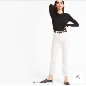 Everlane white cheeky straight ankle jeans Size 24